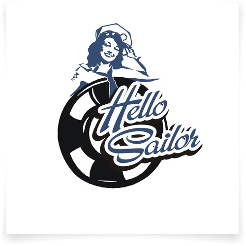 Sailor logo with the title 'Help Hello Sailor with a new logo'