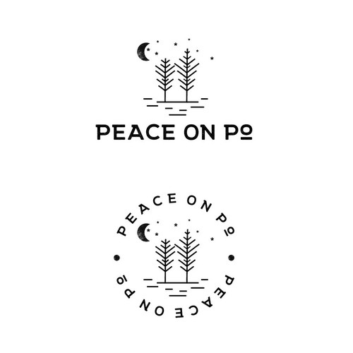 Italian logo with the title 'Logo Concept for Peace on Po'