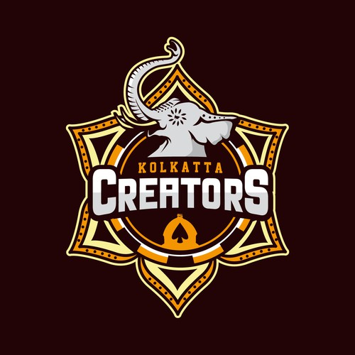 Poker design with the title 'Kolkatta Creators'