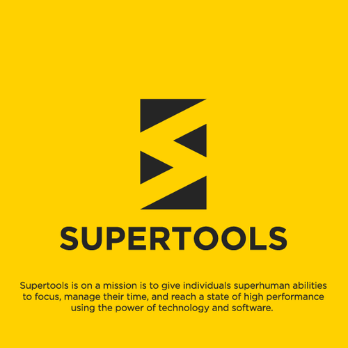 Appealing design with the title 'Minimalist Logo Design for Supertools'