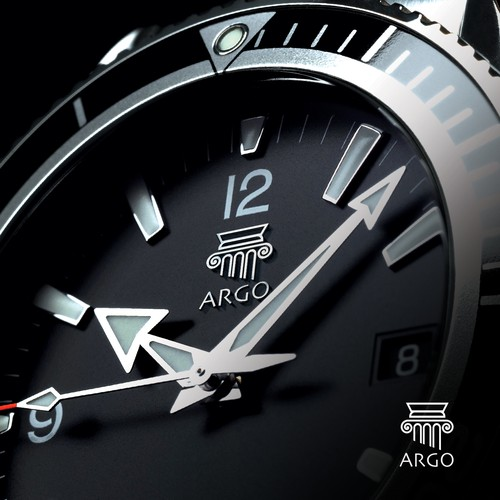 Stopwatch logo with the title 'ARGO'