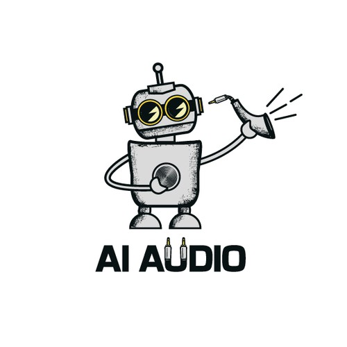 Robot design with the title 'Logo for Ai.audio'