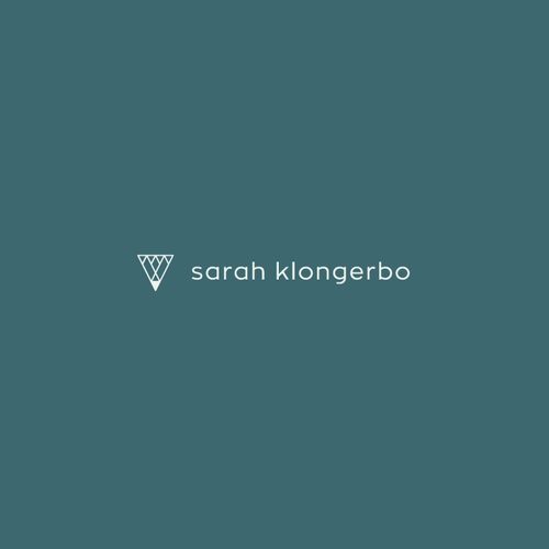 Writing design with the title 'Sarah Klongerbo Logo'