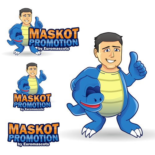 Costume logo with the title 'Logo for MASKOT PROMOTION'