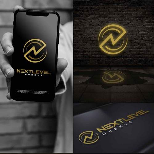 Wheel design with the title 'Modern logo for Next level wheels'
