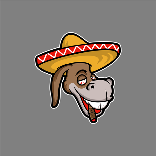 Donkey logo with the title 'logo for CHURRO BURRO'