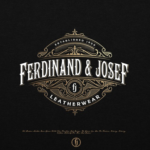 Victorian design with the title 'FERDINAND & JOSEF LOGO'