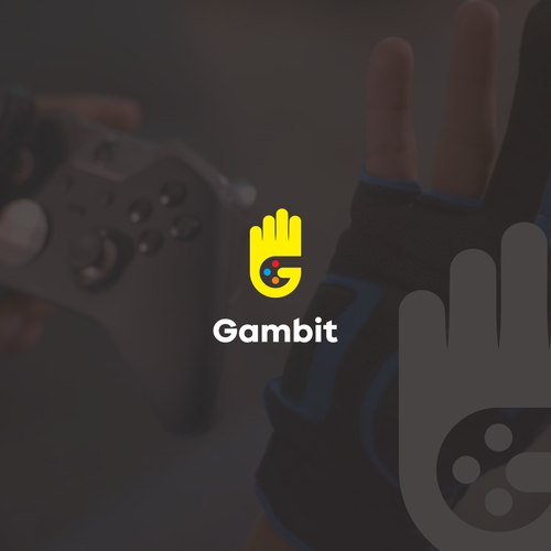 Glove design with the title 'Gloves for gaming'