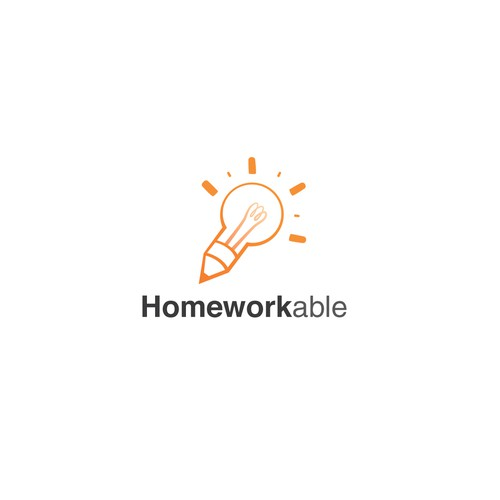 Bulb design with the title 'Homeworkable'
