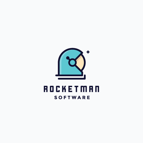 Astronaut logo with the title 'Rocketman software'