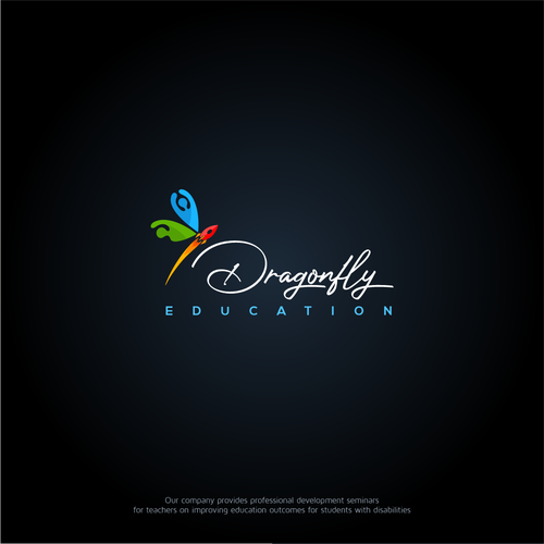 Dragonfly design with the title 'Dragonfly Education'