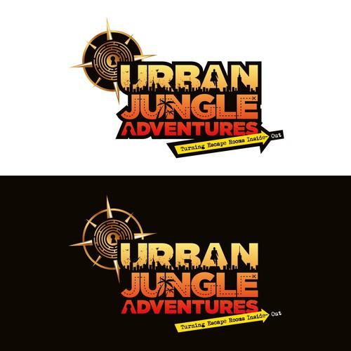 Escape room design with the title 'Urban Jungle Adventures'
