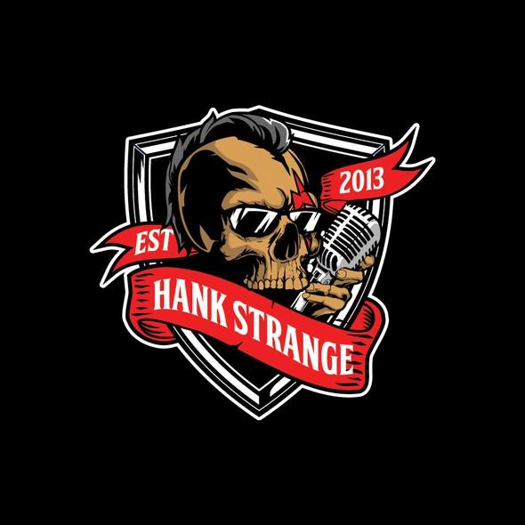 Mohawk logo with the title 'skull mohawk for HANK STRANGE logo'