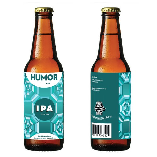 Geometric label with the title 'Label for craft beer'