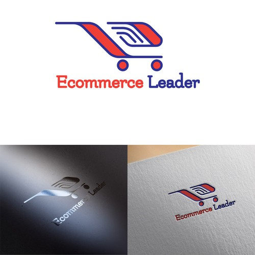 Cart logo with the title 'Ecommerce Leader logo'