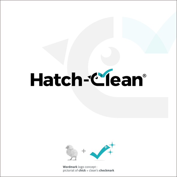 Hatching design with the title 'Simple logo for Hatch cleaning'