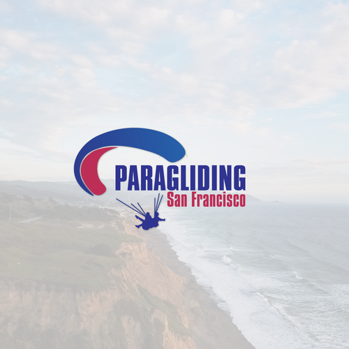 Paragliding logo with the title 'paragliding logo'