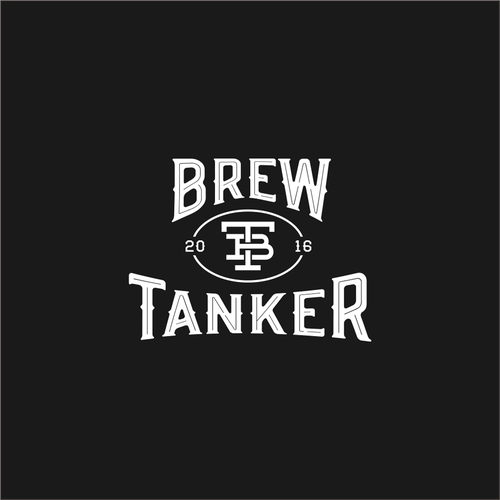 """Typeface design with the title 'Create the """"Brew Tanker"""" stainless steel growler logo'"""
