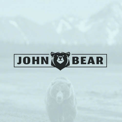 Duck hunting logo with the title 'John Bear'
