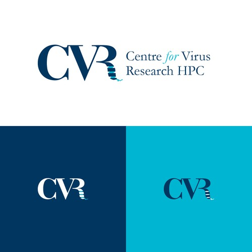 Bacteria logo with the title 'Logo for the Centre for Virus Research HPC'