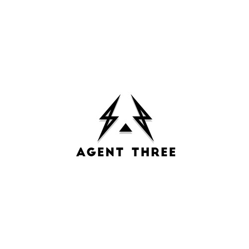 Gray and red logo with the title 'Agent Three'