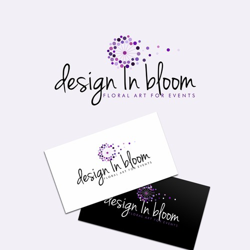 Flower wreath logo with the title 'Elegant logo design'
