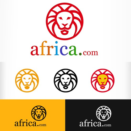 Colorful logo with the title 'Africa.com needs a new logo'