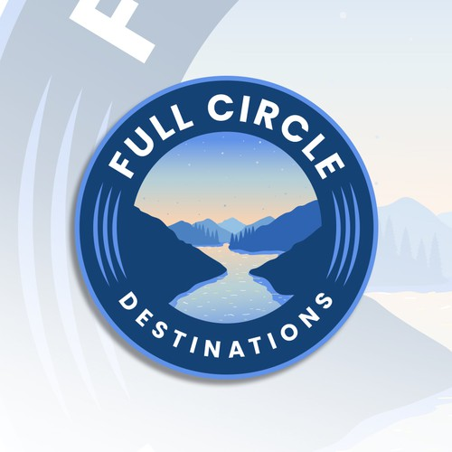 Mountain brand with the title 'Full Circle Destinations'