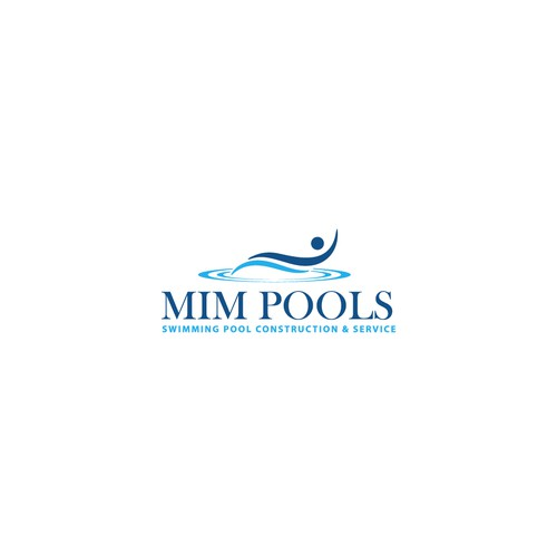 Renovation logo with the title 'MIM POOLS'