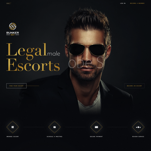 High-end website with the title 'Luxurious web design for escort service'
