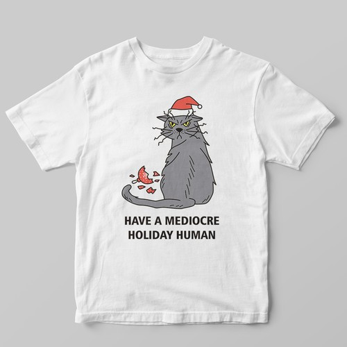 Christmas t-shirt with the title 'Cat Christmas Shirt Design'