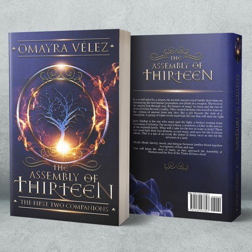 Fantasy book cover with the title 'The Assembly of Thirteen'