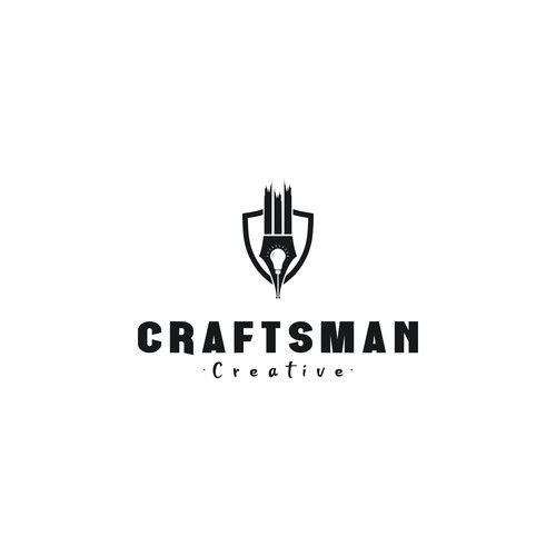 Craftsman design with the title 'Craftsman Creative logo design'