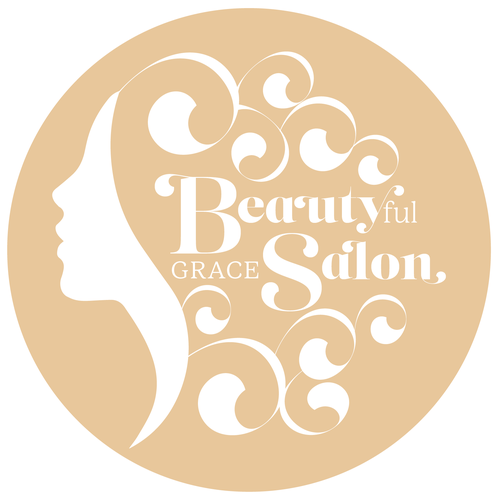 Hair salon design with the title 'Organic Salon Logo'