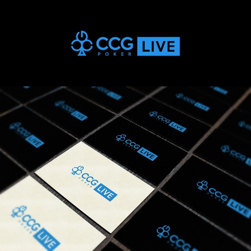 Poker logo with the title 'Light Logo of CCG LIVE Poker'