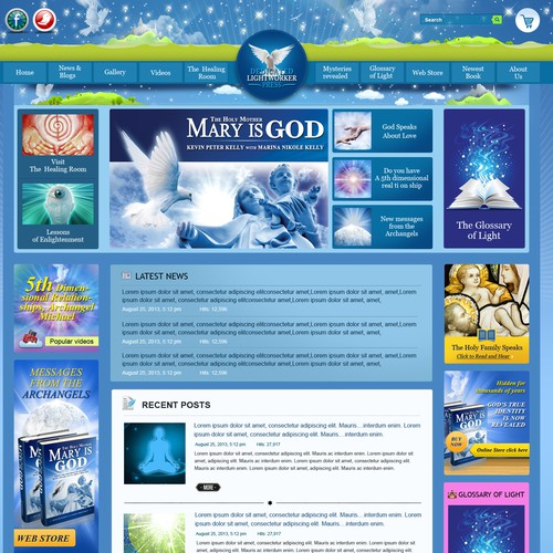 Online store website with the title 'Create the next website design for Dedicated Lightworker Press'