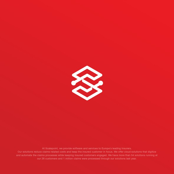 Scale design with the title 'Bold S monogram for Scalepoint'