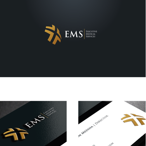 Iconic design with the title 'Executive Medical Services'
