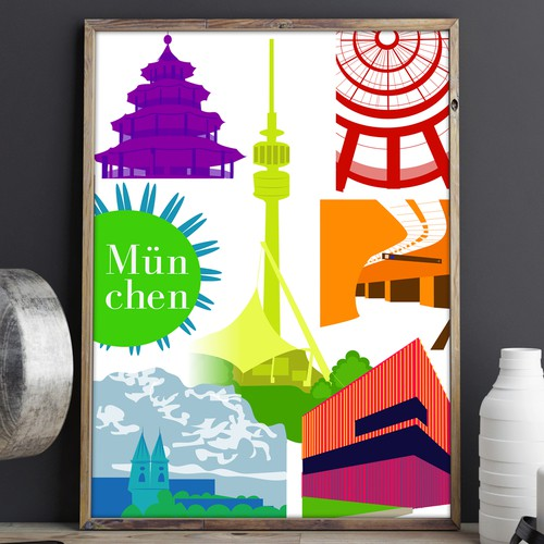 Munich design with the title 'Poster for Munich'