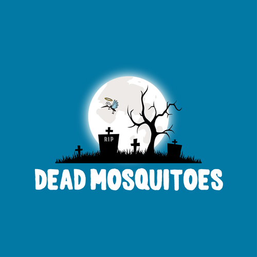 Death logo with the title 'Concept Logo DeadMosquitoes.com'