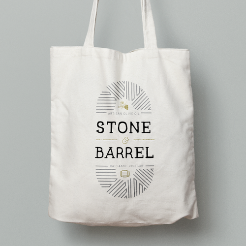Intricate logo with the title 'Stone & Barrel logo'