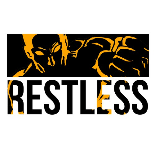 Hero illustration with the title 'Logo concept for Restless Brand'