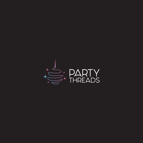 Thin design with the title 'Fun logo concept for PARTY THREADS'