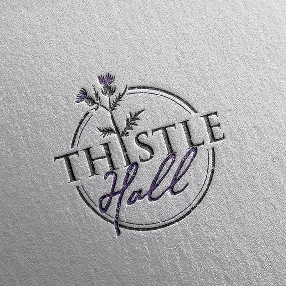 Wedding design with the title 'Logo for Thistle Hall'