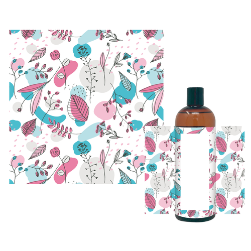 Packaging illustration with the title 'allover pattern'