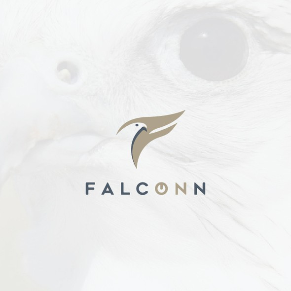 Handphone logo with the title 'Falcon Character Logo'