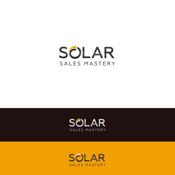 Brown and white logo with the title 'Logo for solar company'