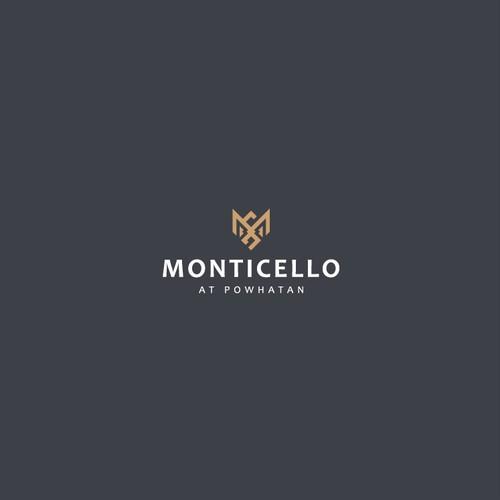 Millionaire logo with the title 'Monticello Logo Design'