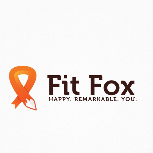 Zodiac logo with the title 'Fit Fox Logo for fighting cancer'