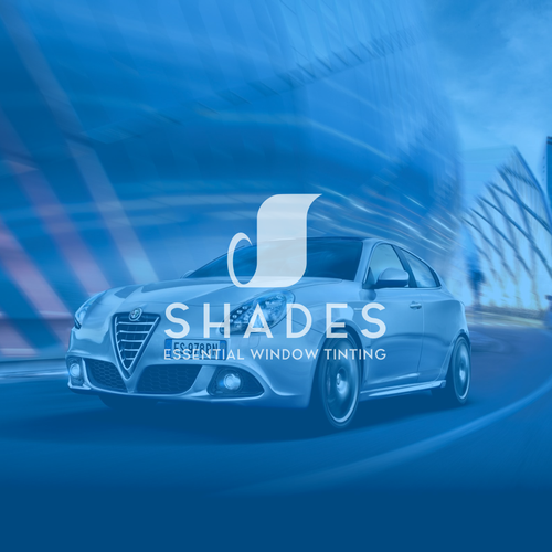 Window brand with the title 'Logo - Branding Identity for SHADES - ESSENTIAL WINDOW TINTING'